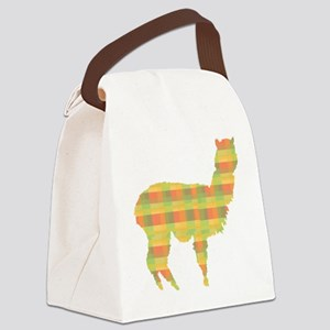 alpaca plaid Canvas Lunch Bag