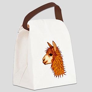 alpaca transp  Canvas Lunch Bag