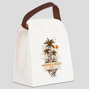 Natadola Beach Fiji Canvas Lunch Bag