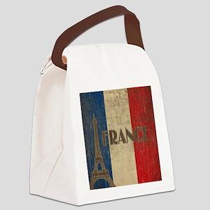 Vintage France Canvas Lunch Bag