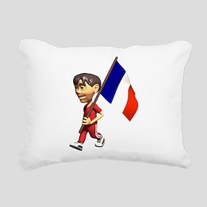 3D France Rectangular Canvas Pillow