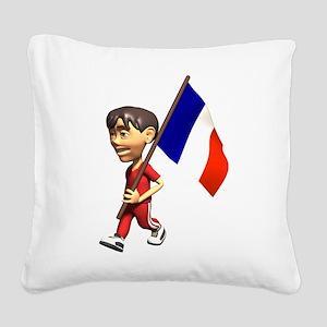 3D France Square Canvas Pillow