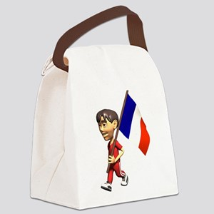 3D France Canvas Lunch Bag