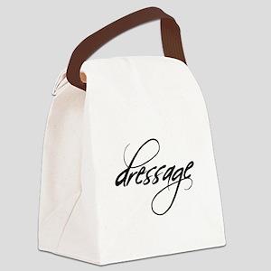 dressage fix horse black  Canvas Lunch Bag