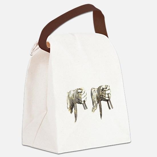 Dressage Hands Canvas Lunch Bag