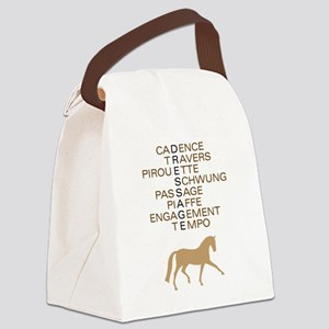 dressage language trot Canvas Lunch Bag