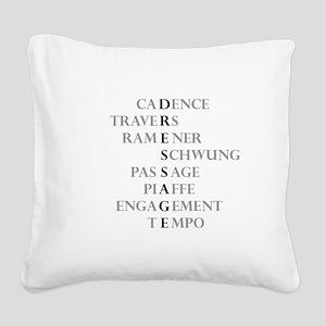 dressage language Square Canvas Pillow