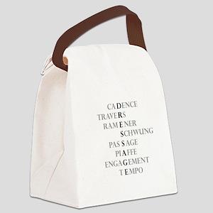 dressage language Canvas Lunch Bag