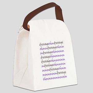 dressage ohm purple Canvas Lunch Bag