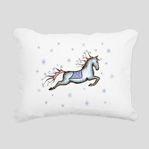 Starry Sky Horse Rectangular Canvas Pillow