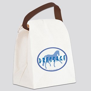 Trot Oval Hand Text (blue) Canvas Lunch Bag