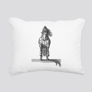 Charging horse Rectangular Canvas Pillow