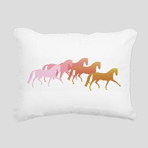 many horses Rectangular Canvas Pillow