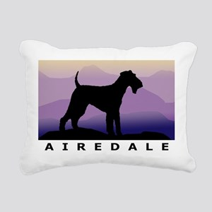 airedale purple mt wdtx Rectangular Canvas Pil