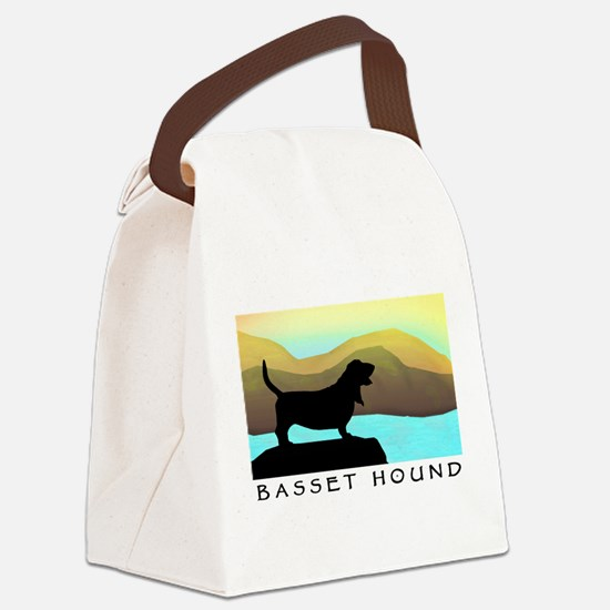 Basset Hound By The Sea Canvas Lunch Bag