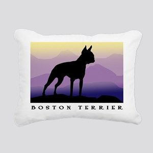 boston terrier dog wide text p mts Rectangular