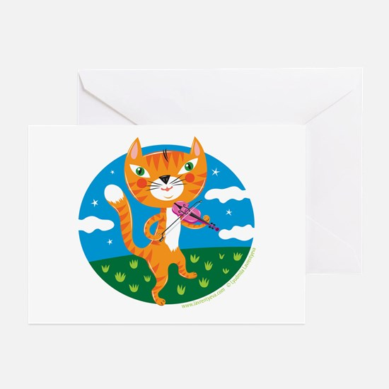 """""""The Cat and the Fiddle"""" Greeting Cards (Package o"""