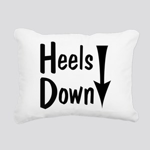 Heels Down! Arrow Rectangular Canvas Pillow