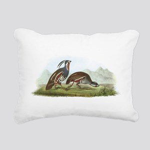 Mountain Quail Rectangular Canvas Pillow
