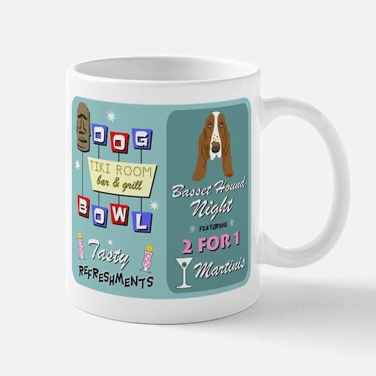 Basset Hound Bowling Tiki Night Coffee Mug