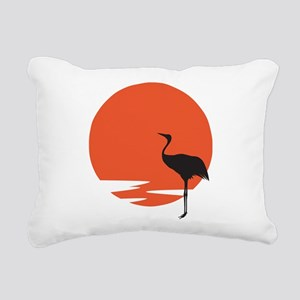 Crane bird Rectangular Canvas Pillow