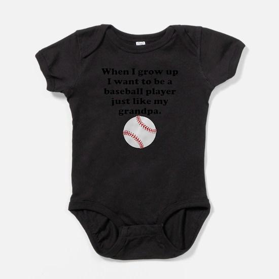 Baseball Player Like My Grandpa Body Suit