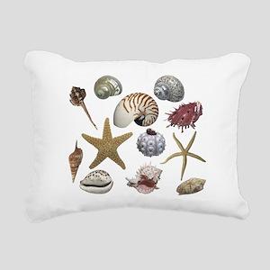 shells Rectangular Canvas Pillow
