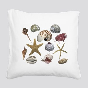 shells Square Canvas Pillow