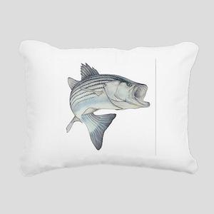 stripe bass Rectangular Canvas Pillow