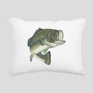 large mouth bass Rectangular Canvas Pillow