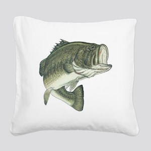 large mouth bass Square Canvas Pillow