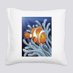Clown Fish Square Canvas Pillow