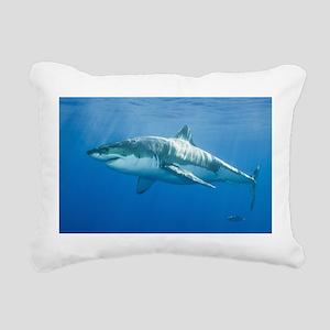 Great White Shark Rectangular Canvas Pillow