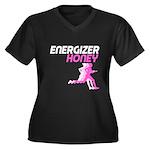 Energizer Honey Women's Plus Size V-Neck Dark T-Sh