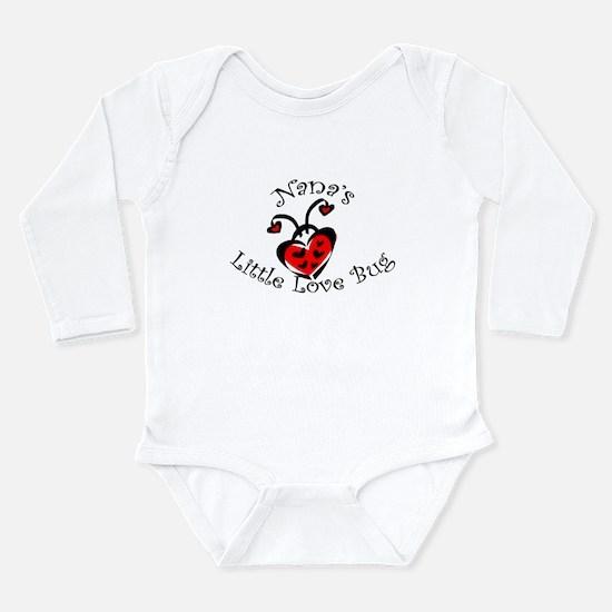Nana's Love Bug Ladybug Long Sleeve Infant Bodysui