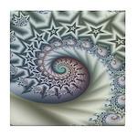 Star Spangled Spiral Tile Coaster