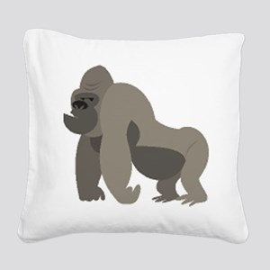 kid gorilla drawing Square Canvas Pillow