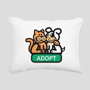 adopt animals Rectangular Canvas Pillow