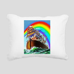 Noah's Ark drawing Rectangular Canvas Pillow