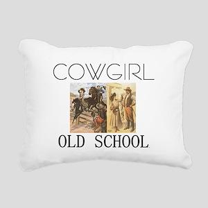 cowgirlos2tran Rectangular Canvas Pillow