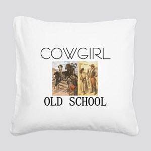 cowgirlos2tran Square Canvas Pillow