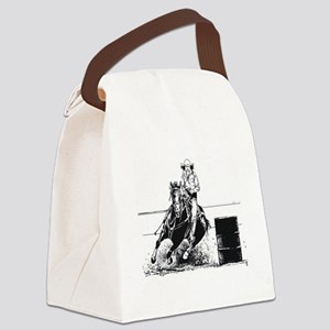 Rodeo Cowgirl Canvas Lunch Bag