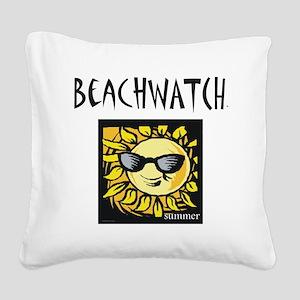 beachwatchs Square Canvas Pillow