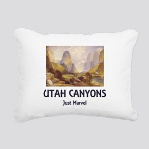 utahcanyons Rectangular Canvas Pillow