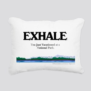 exhalenpcircle Rectangular Canvas Pillow