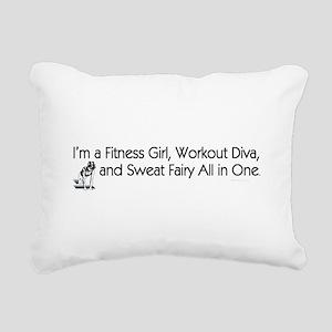 Workout Diva Rectangular Canvas Pillow