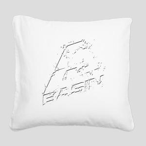 A Basin Test White Square Canvas Pillow