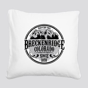 Breck Old Radial Square Canvas Pillow