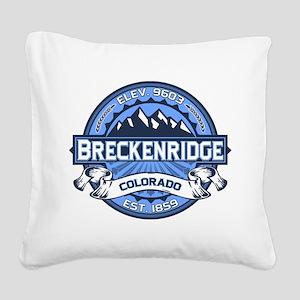 Breckenridge Blue Square Canvas Pillow