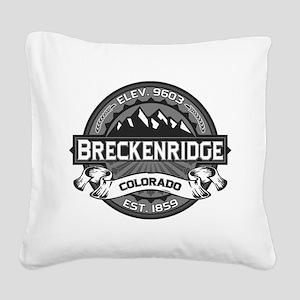 Breckenridge Grey Square Canvas Pillow